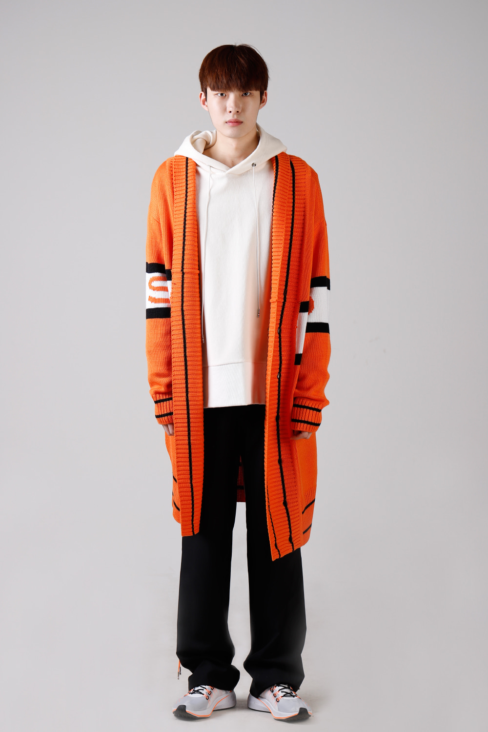 [19S/S] 레드벨벳 웬디 착용19VER. SHAWL COLLAR CARDIGAN ORANGE