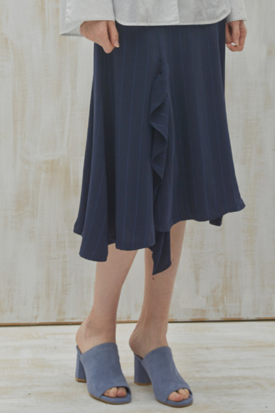 ruffle slit skirt(NV S/T)