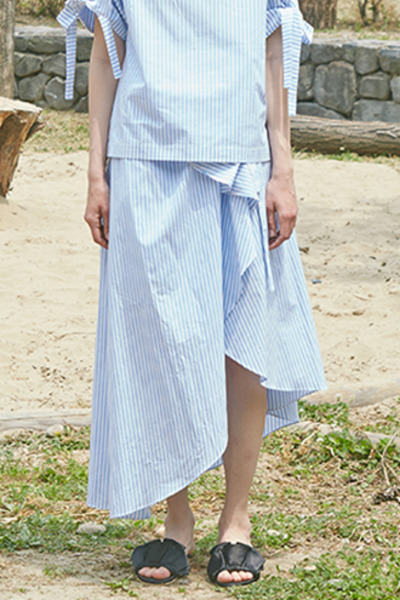3WAY GATHER SKIRT (BLUE)